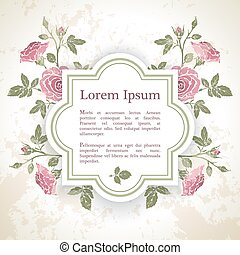 Background with rose flowers - Background with rose graphic...