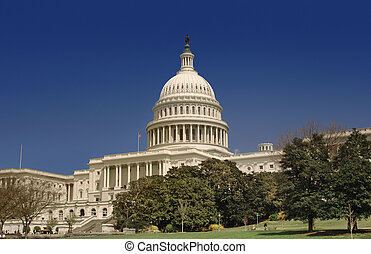 Capitol Hill - United States Capitol on Capitol HIll looking...