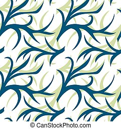 Abstract two color seamless pattern with twig. Background,   cover, wrapper, textile, fabric