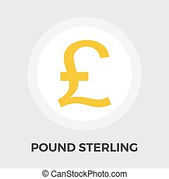 Pound sterling icon. - Pound sterling icon vector. Flat icon...