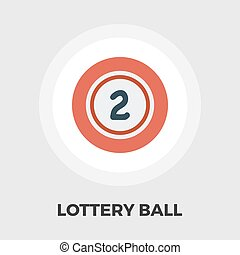 Lottery ball flat icon - Lottery ball icon vector Flat icon...