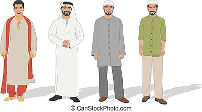 Muslim men - Group of four Muslim men