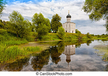 Church of the Intercession on the Nerl. Built in 12th...