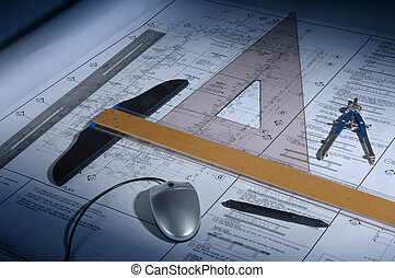 Blue Prints - Architectural drawings and drafting equipment