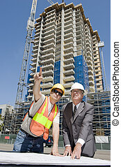 Developer and Foreman - Building developer supervising...