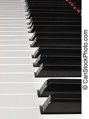 teclas,  piano,  vertical