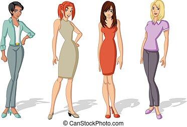 beautiful young women - Group of beautiful young women