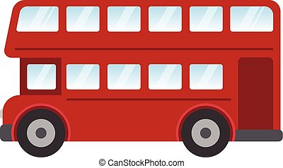 Clipart Vector of London Red Bus csp12223053 - Search Clip Art ...