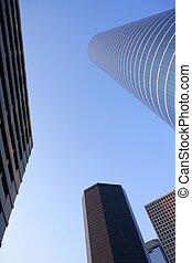 Houston downtown city urban buildings