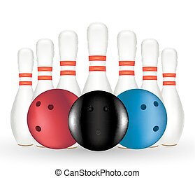 Bowling and Bowling pin - aBowling and Bowling pin