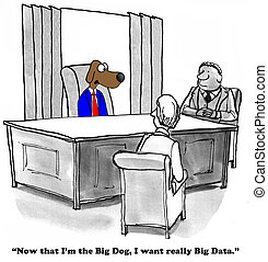 Big Data - Business cartoon about lots of big data.
