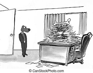 Incentive - Business cartoon about an incentive to finish...