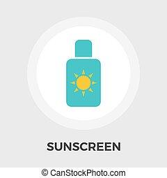 Sunscreen vector flat icon - Sunscreen Icon Vector Flat icon...