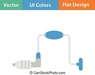 Flat design icon of auge in ui colors Vector illustration