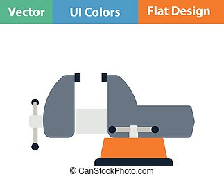 Flat design icon of vise in ui colors. Vector illustration.