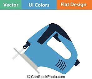 Flat design icon of jigsaw icon in ui colors Vector...