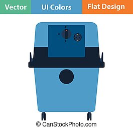 Flat design icon of vacuum cleaner in ui colors Vector...