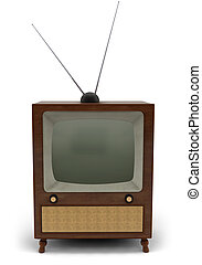 Retro TV - 1950\\\'s television with a blank screen