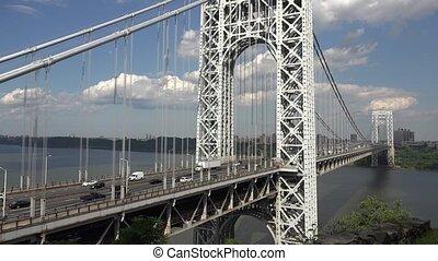 Suspension Bridge Highway Traffic