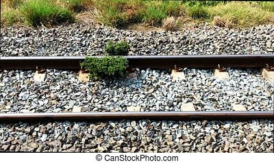 railroad tracks footage background