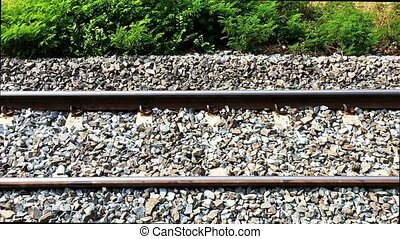 railroad tracks footage