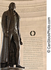 Thomas Jefferson - Interior of Jefferson Memorial in...