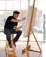 estúdio, artista
