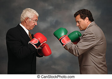 Boxing Executives - Two businessmen in business suites...