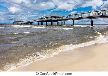The pier in Heringsdorf on the island Usedom Germany
