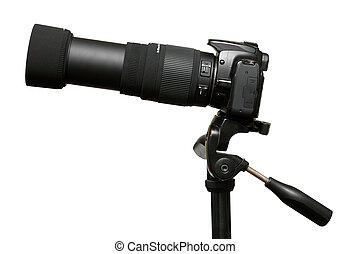 camera with telephoto zoom lens