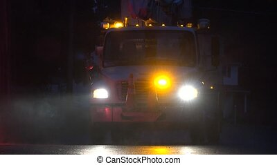 Emergency Vehicle with Flashing Lights