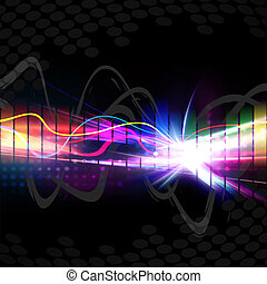 Rainbow Musical Wave Form - A rainbow colored graphic...