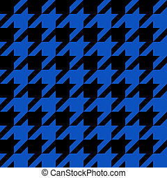 Blue Houndstooth Pattern