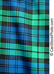Green Blue Plaid Background - Scottish Green Blue Plaid...