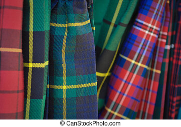 Several Multi Color Plaid Kilts