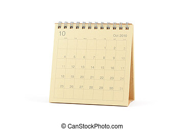 Calendar - October 2010 - Desktop Calendar - October 2010,...