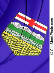 Flag of Alberta, Canada - 3D Flag of Alberta, Canada Close...