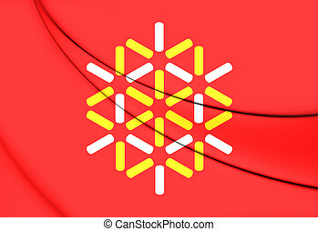 Flag of Languedoc-Roussillon, France - 3D Flag of...