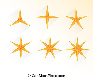 Collection of golden stars