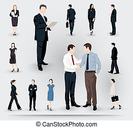 Collection of business people illustrations