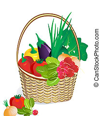 Légumes, panier