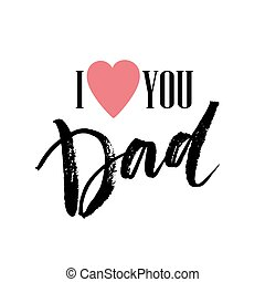 Best Dad lettering. Fathers day greeting card. Vector...