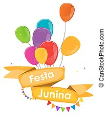 Festa Junina Holiday Background Traditional Brazil June...