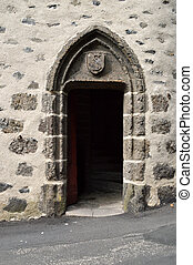 A medieval door - A beautiful entrance with a medieval...