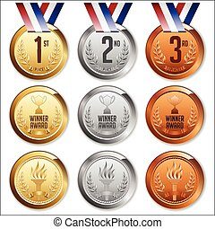 Medals with Ribbon.