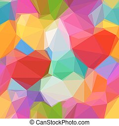 Abstract Low Poly Background - Abstract Background, Colorful...