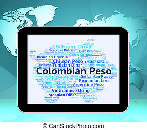 Colombian Peso Represents Foreign Exchange And Currencies -...