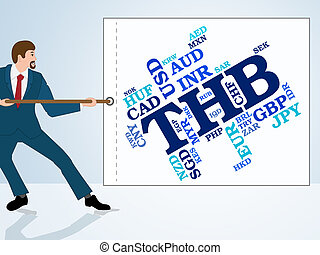 Thb Currency Indicates Worldwide Trading And Coin - Thb...