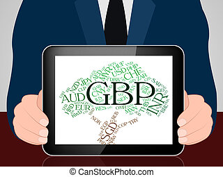 Gbp Currency Indicates Great British Pound And Coinage - Gbp...