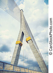 Rama VIII bridge (filter effect used) - Rama VIII bridge in...